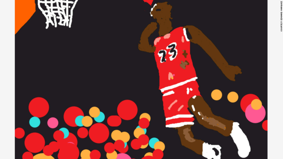 Edward Marquez used his iPad to draw this basketball superstar.