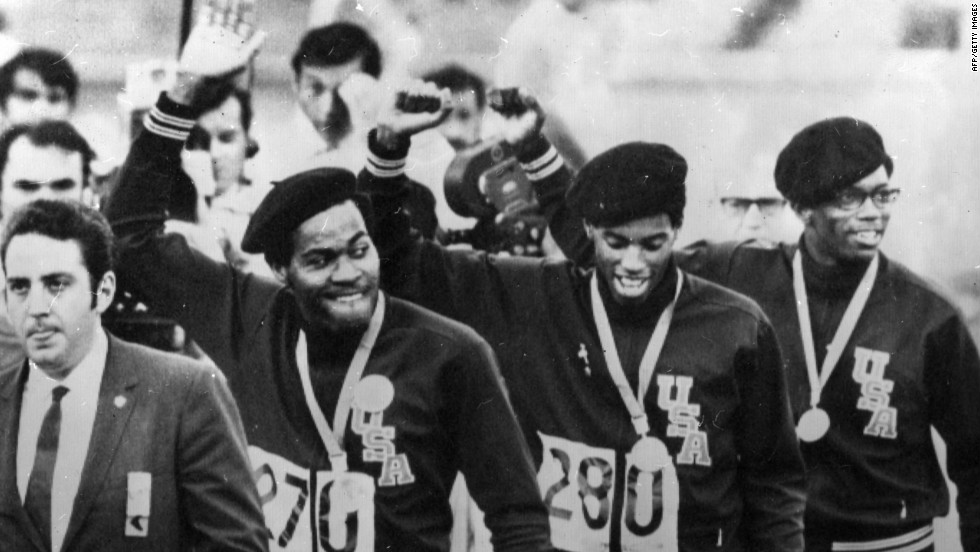 The U.S. track and field team arrived in Mexico eager to show their support to the civil rights movement back home. The world was watching to see what the team's black athletes, many of whom had received death threats, would do.