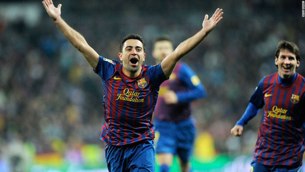 Xavi scored in Barcelona's win over Real Madrid in La Liga back in December and is set to make a record 32d El Clasico appearance in Saturday's match.