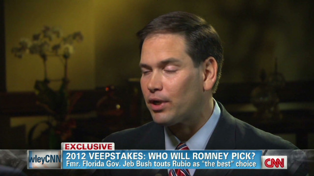 Rubio changing his tune on the VP slot?