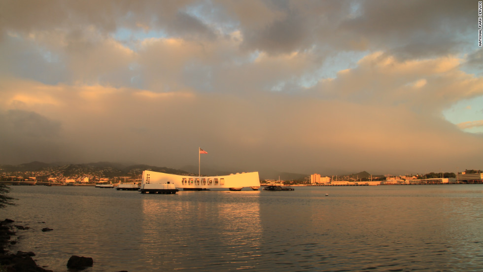 This 184-foot-long structure commemorates the Japanese attack on Pearl Harbor. Dedicated in 1962, it is the final resting place for many of the USS Arizona's 1,177 crewmen who died on December 7, 1941.