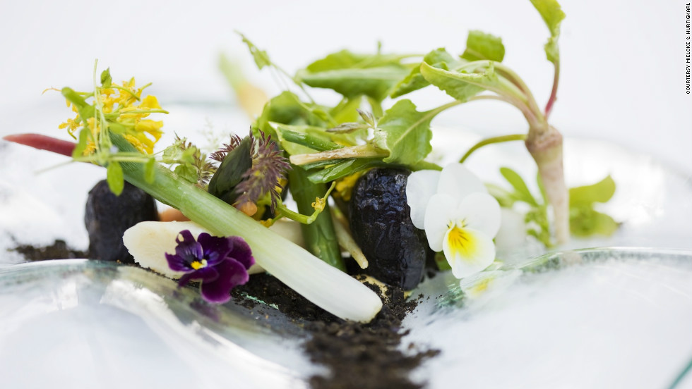 A dish of edible flowers is an apposite starter at Mielcke & Hurtigkarl's, situated as it is on grounds run by the Royal Danish Garden Society.