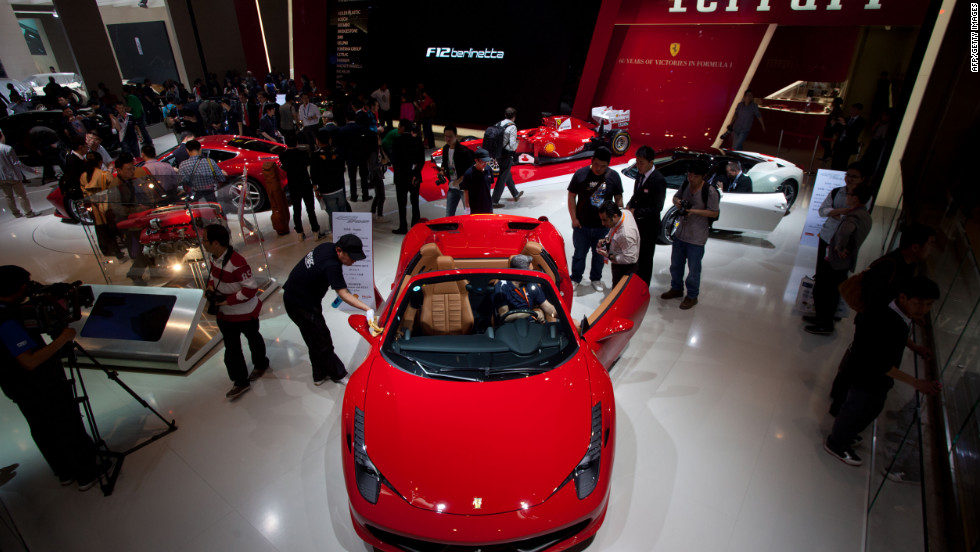 The Ferarri stand at the Auto China 2012 car show in Beijing.