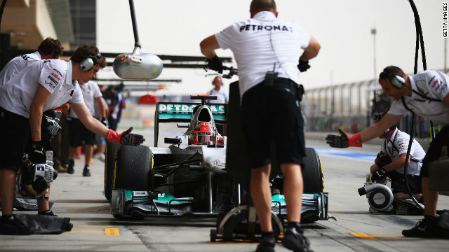 Michael Schumacher came from 22nd to finish 10th for Mercedes in Bahrain but was still unhappy with his tires