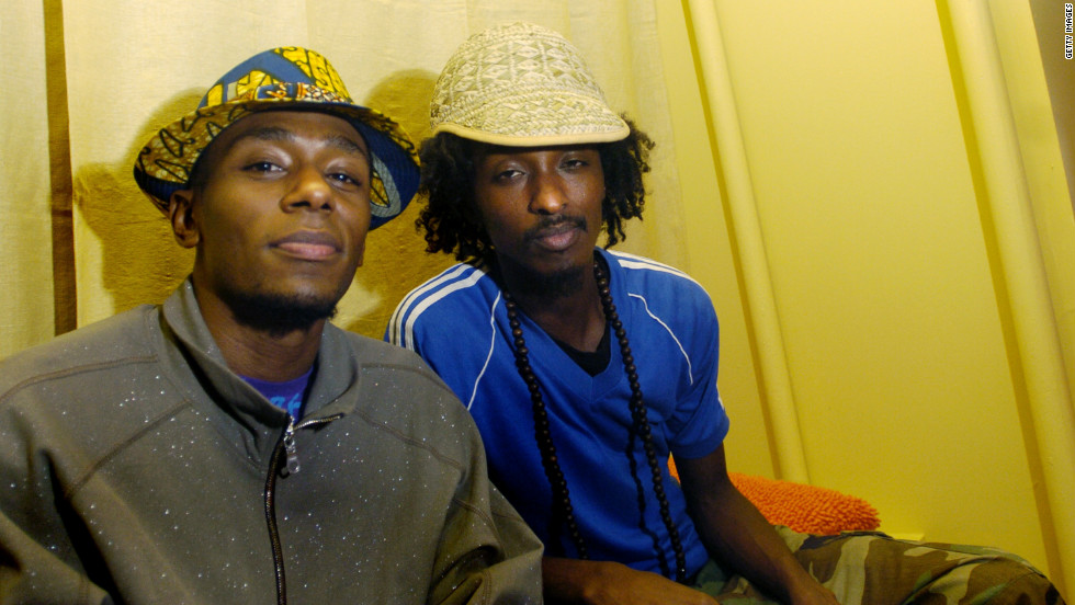 K'naan pictured with rapper Mos Def during the 30th Annual Toronto International Film Festival on September 15, 2005.