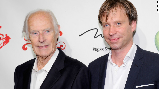Giles Martin, right, has followed in the footsteps of his father Sir George, left, the Beatles' producer.