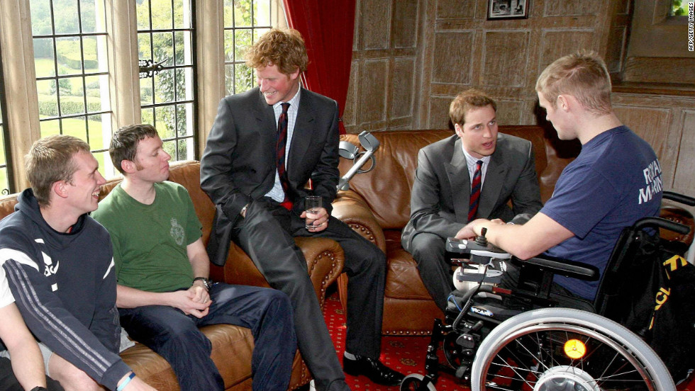 The princes' charitable foundation focuses on the welfare of veterans and serving members of the armed forces. Prince Harry is also the patron of several other soldiers' charities.