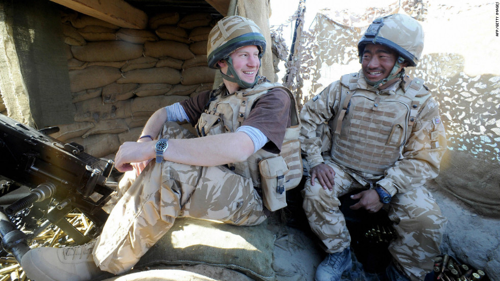 The Prince is a Captain in the British Army, and served a tour of duty in Afghanistan's Helmand province in 2007 and 2008, as a Forward Air Controller for NATO forces.