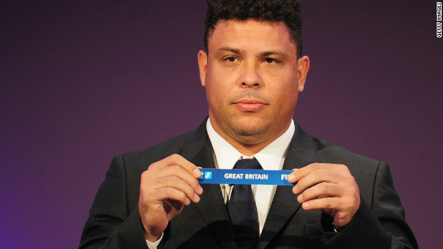 Former Brazil star Ronaldo, who won a bronze in 1996, was part of the Olympic football draw ceremony at Wembley