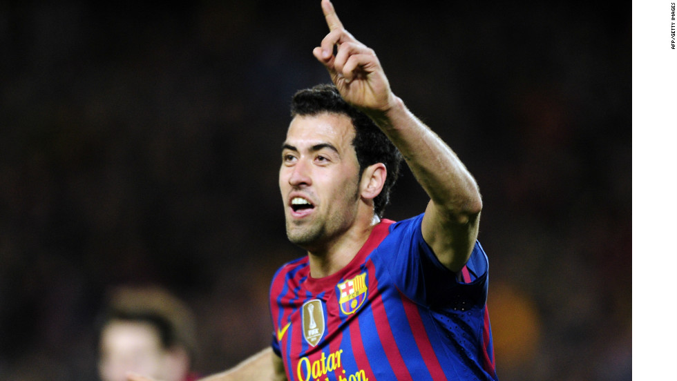 After Barcelona miss several chances, Sergio Busquets puts them ahead on the night and level on aggregate after 35 minutes.