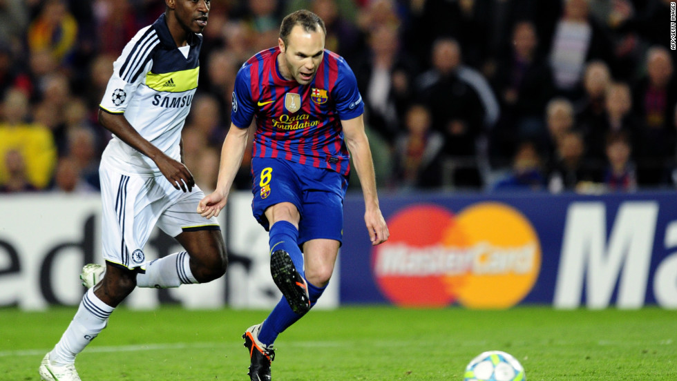 Chelsea, who have already lost Gary Cahill to injury, look set to fall apart when Andres Iniesta finishes off a typically slick Barcelona move in the 44th minute to put the Catalan side 2-1 up.