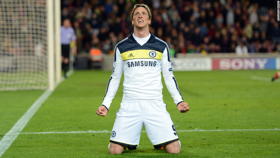 Misfiring striker Fernando Torres comes on to secure Chelsea's place in the Champions League final, giving his side an improbable 3-2 aggregate win over defending champions Barcelona.