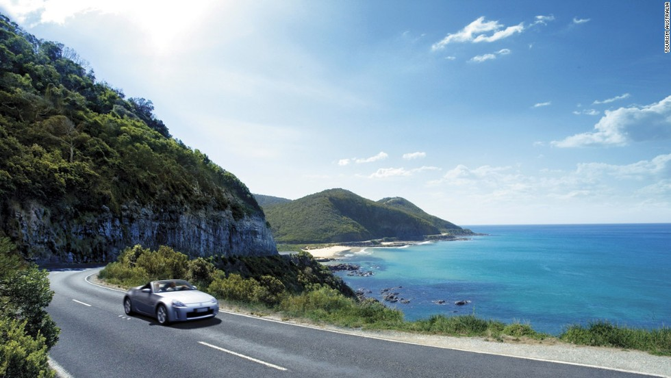 <strong>Great Ocean Road, Australia: </strong>Here mountains meet oceans, rainforests meet dramatic cliffs, and lighthouses meet national parks. At the end of the route you'll want to U-turn and ride it again.