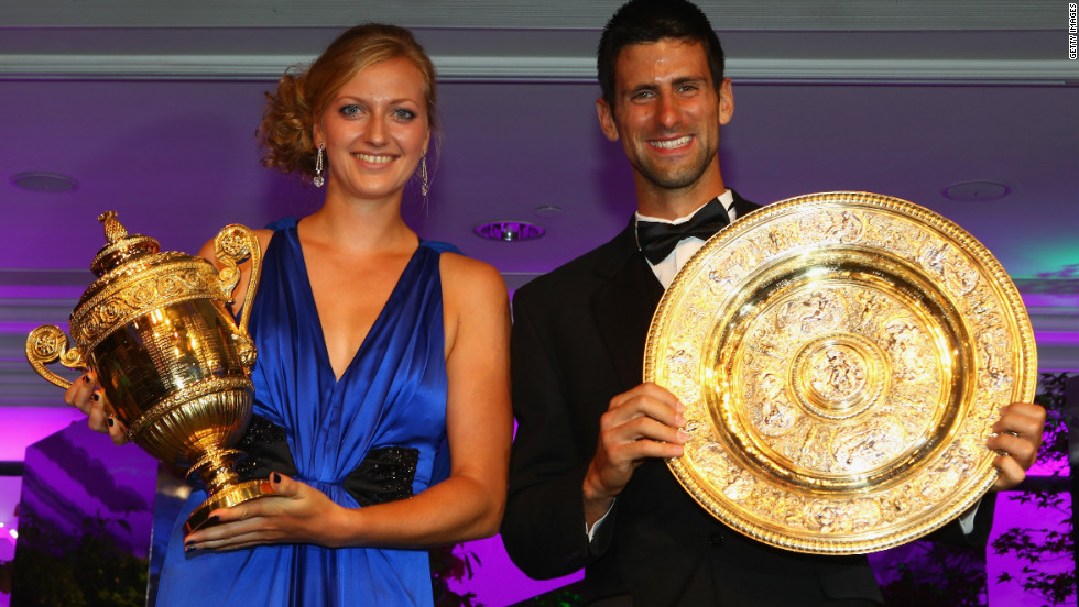 Petra Kvitova of the Czech Republic and Novak Djokovic of Serbia will be hoping to defend their Wimbledon titles in July -- earning a 4.5% increase in prize money if they do. Singles champions will now receive £1.15 millon ($1.85 million).