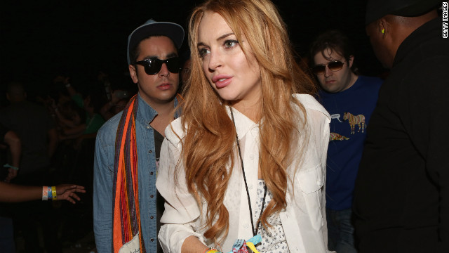 Lindsay Lohan attends day 3 of the 2012 Coachella Valley Music & Arts Festival at the Empire Polo Field on April 15, 2012 in Indio, Calif.
