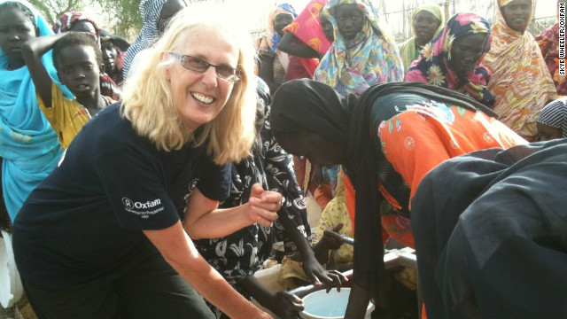 Oxfam's Pauline Ballman works in the Jamam Refugee Camp in South Sudan