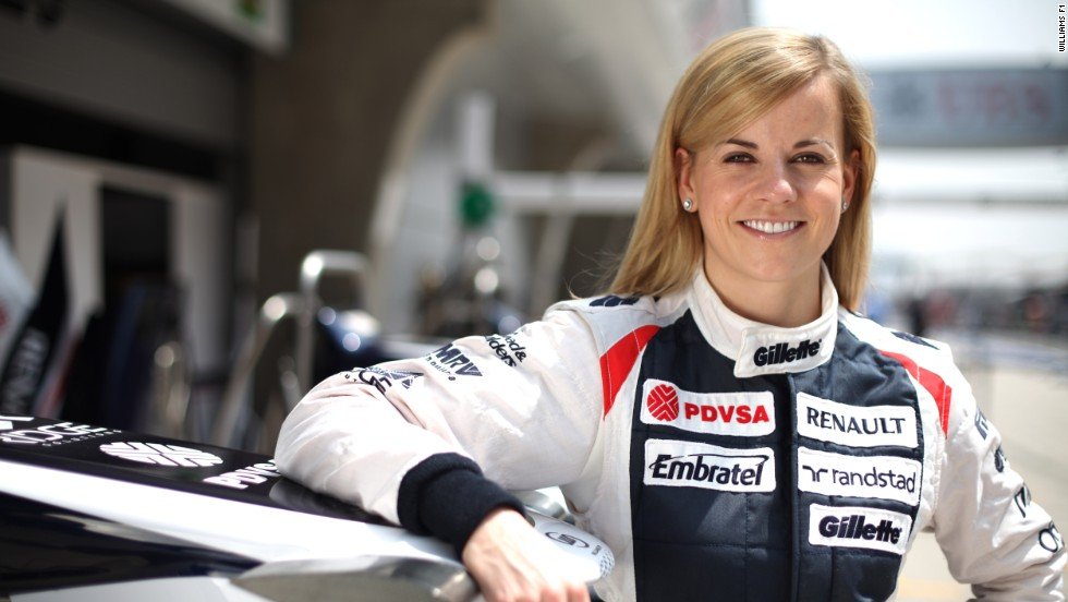 In 2013, she was the first person to drive the team's new car.