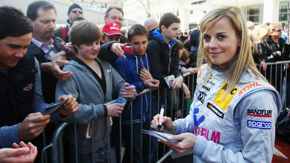 Signing autographs for fans -- in 2010, Wolff finished ahead of David Coulthard and Ralph Schumacher in the DTM championship.