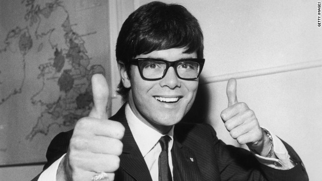 Richard gives a thumb up to representing the UK in the Eurovision Song Contest in 1967.