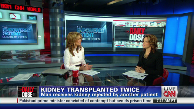 Kidney transplanted twice