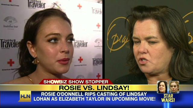 Rosie O'Donnell slams Lindsay Lohan