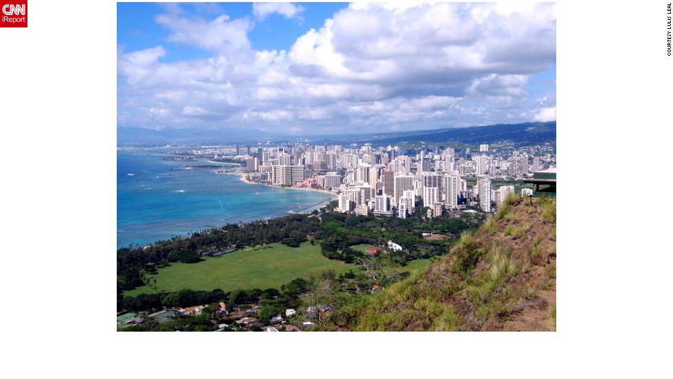 Hike up Diamond Head for a sweeping view of Honolulu.