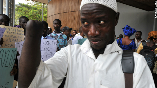 Mohamed Traore of Sierra Leone lost his hand to forces backed by former Liberian President Charles Taylor.