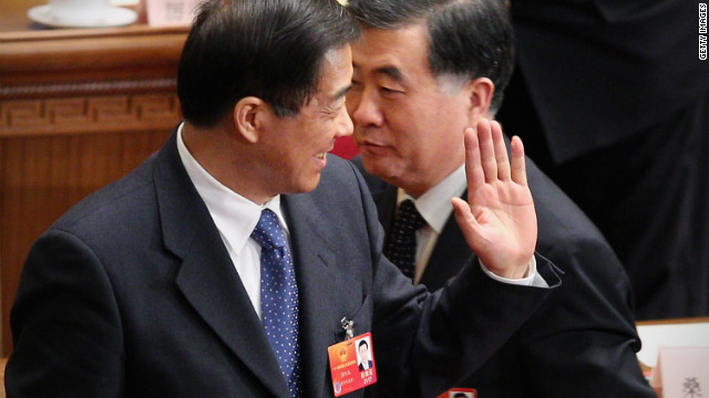 Bo Xilai (left) had not been linked to the murder of British businessman Neil Heywood late last year.