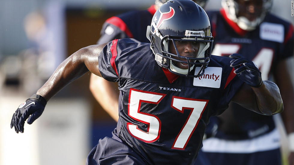 Linebacker Cheta Ozougwu was drafted last by the Houston Texans in 2011. He now plays for the Chicago Bears.