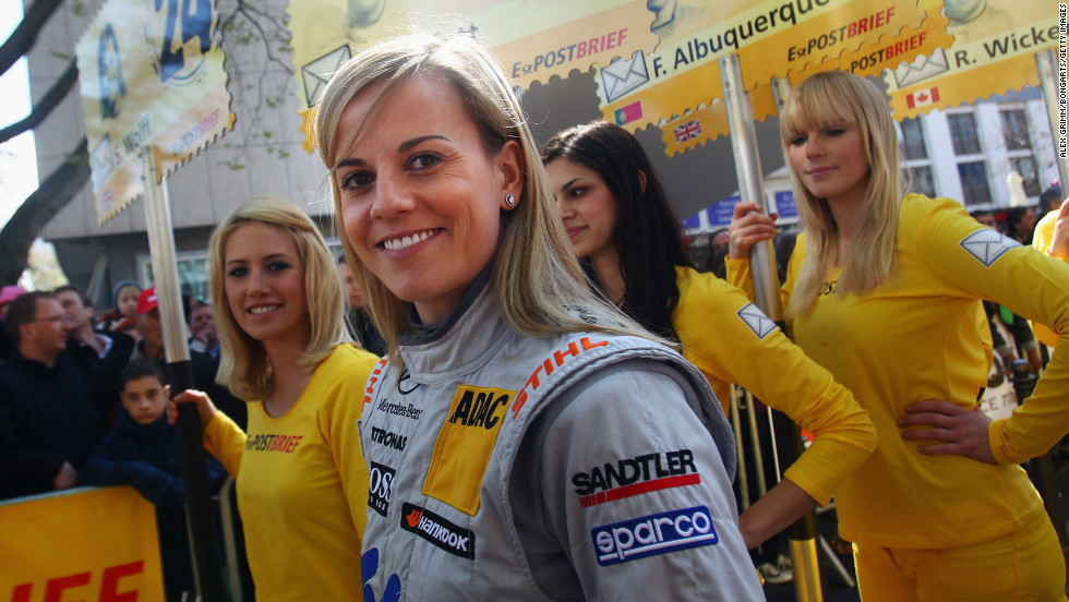 At a DTM touring car presentation in Wiesbaden, Germany.