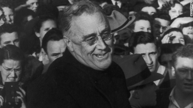 Never-before-seen footage of FDR walking