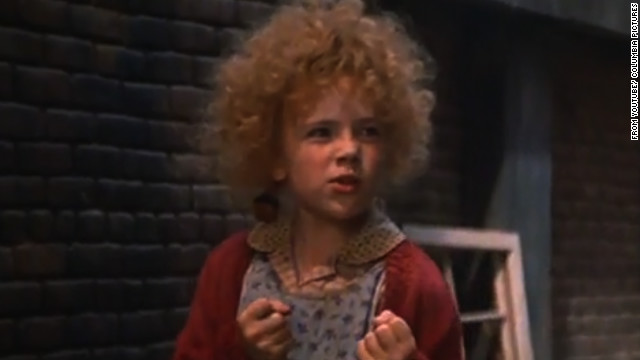 "A still from the 1982 movie, ""Annie"" with Aileen Quinn."