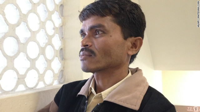Ramesh Makwana suffers from silicosis, a respiratory disease brought on by 14 years of work in an agate factory in India.