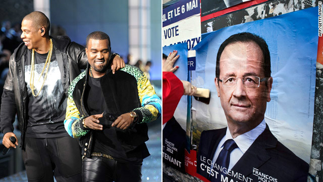 Could a song by Jay-Z and Kanye West help improve the image of French presidential candidate Francois Hollande?