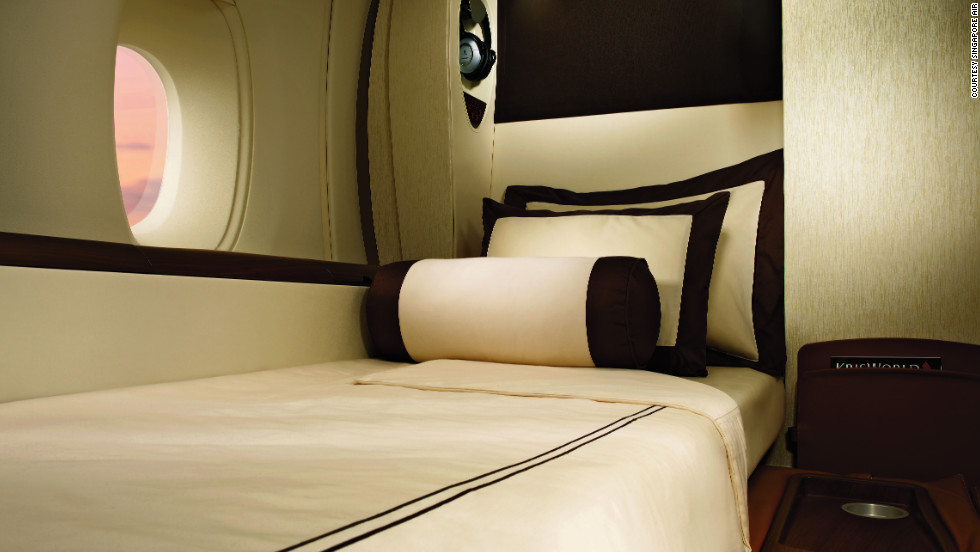 Created by luxury yacht designer Jean-Jacques Coste, 78-23-35 are the specs, in inches, for the first-class suites exclusively offered on Singapore Airlines' A380s.