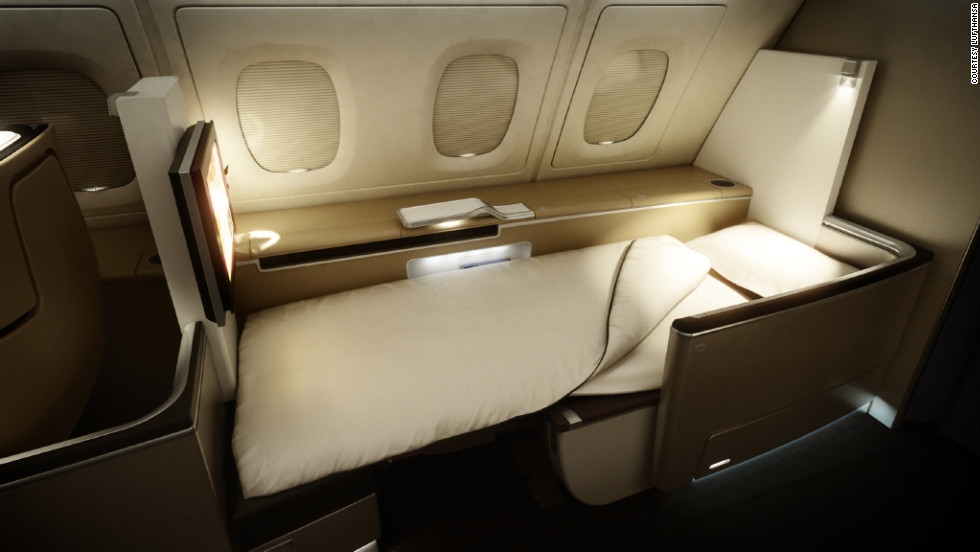 Lufthansa recently reduced the number of first-class suites aboard its 747s to give everyone a seat and bed.