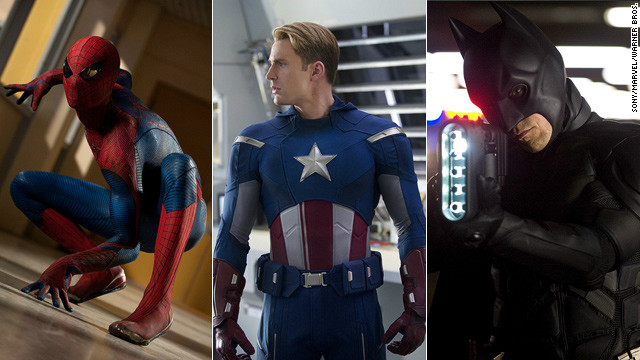 "From left, ""The Amazing Spider-Man,"" ""The Avengers"" and ""The Dark Knight Rises"" are expected to be blockbusters this summer."