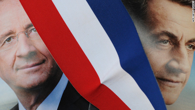 Francois Hollande and Nicolas Sarkozy face a run-off vote for the presidency on May 6.