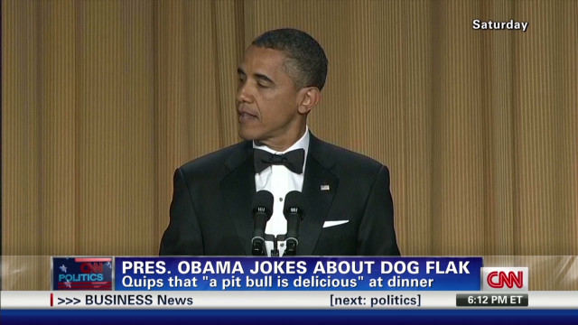 Pres. Obama gives and takes zingers