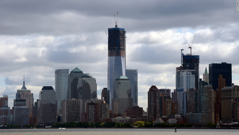 One World Trade Center, or the Freedom Tower, dominates the Lower Manhattan skyline as the new tallest building in New York City, where high-end property averages £2,700 ($4,083) per square feet.