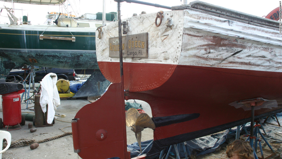 The restoration process has seen a new steel hull and boiler installed on the African Queen.