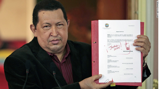 "Venezuelan President Hugo Chavez says he is in the ""home stretch"" of his cancer treatment in Cuba."