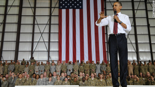 Obama to troops: 'I love all of you'