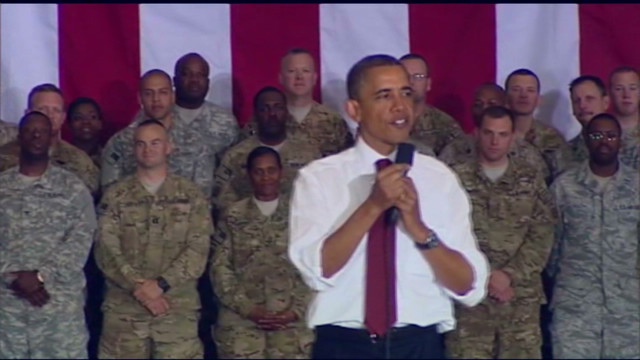 Obama tells the troops 'thank you'