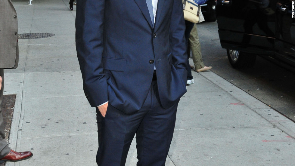 "Seth Meyers visits the ""Late Show with David Letterman"" in New York City."