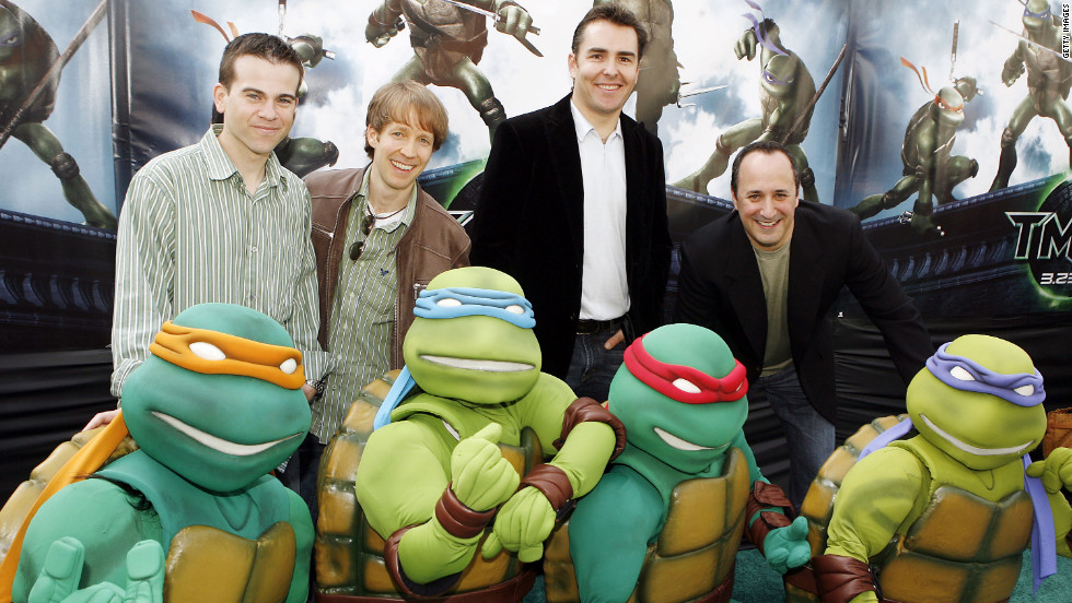 "Mikey Kelley, James Arnold Taylor, Nolan North and Mitchell Whitfield voiced the Teenage Mutant Ninja Turtles in 2007's ""TMNT."" Everyone's favorite pizza-eatng reptles will be back in Michael Bay's upcoming live-action reboot."