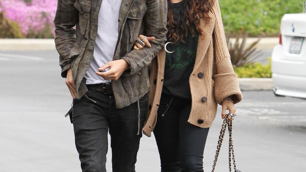 Austin Butler and Vanessa Hudgens roam around Studio City.