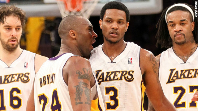 The two championship rings were from the Lakers' 2009 and 2010 seasons, police said.
