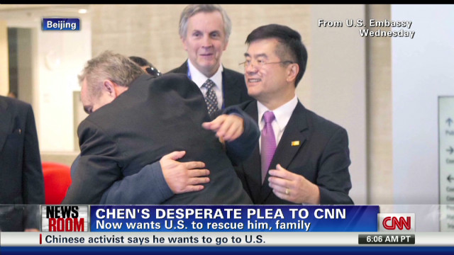 Chen's desperate plea to CNN