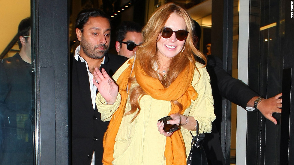 Lindsay Lohan heads out for the evening.